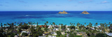 High Angle View of a Town at Waterfront, Lanikai, Oahu, Hawaii, USA Photographic Print