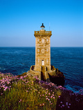 Lighthouse at the Coast, Kermorvan Lighthouse, Finistere, Brittany, France Photographic Print