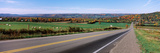 Road Passing Through a Field, Finger Lakes, New York State, USA Fotoprint