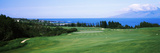 Golf Course at the Oceanside, Kapalua Golf Course, Maui, Hawaii, USA Fotografisk tryk