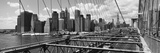 Traffic on a Bridge, Brooklyn Bridge, Manhattan, New York City, New York State, USA Photographic Print