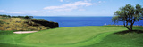 Golf Course at the Oceanside, the Manele Golf Course, Lanai City, Hawaii, USA Photographie