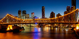 Bridge across a River, Story Bridge, Brisbane River, Brisbane, Queensland, Australia Photographic Print