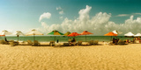 People Relaxing under Umbrellas on the Beach, Morro De Sao Paulo, Tinhare, Cairu, Bahia, Brazil Photographic Print