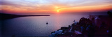Town at Sunset, Santorini, Cyclades Islands, Greece Fotografisk tryk
