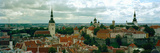 High Angle View of a Townscape, Old Town, Tallinn, Estonia Photographic Print