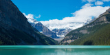 Lake with Canadian Rockies in the Background, Lake Louise, Banff National Park, Alberta, Canada Photographic Print