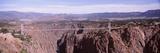 Suspension Bridge across a Canyon, Royal Gorge Suspension Bridge, Colorado, USA Photographic Print