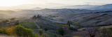 Valley at Sunrise, Val D'Orcia, Tuscany, Italy Lámina fotográfica
