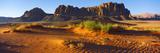 Rock Formations in a Desert, Jebel Qatar, Wadi Rum, Jordan Photographic Print