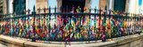 Colorful Bonfim Wish Ribbons Tied around at Church of Nosso Senhor Do Bonfim, Pelourinho Photographic Print
