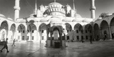 Courtyard of Blue Mosque in Istanbul, Turkey Photographic Print