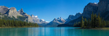 Maligne Lake with Canadian Rockies in the Background, Jasper National Park, Alberta, Canada Photographic Print