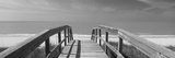 Boardwalk on the Beach, Gasparilla Island, Florida, USA Fotografie-Druck