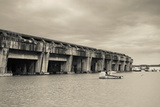 World War Two-Era Nazi Submarine Base Now an Art Gallery, Bordeaux, Gironde, Aquitaine, France Photographic Print by Green Light Collection