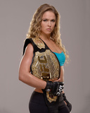 UFC Fighter Portraits: Ronda Rousey Fotografisk tryk af Jeff Bottari