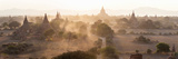 Ancient Temples at Sunset, Bagan, Mandalay Region, Myanmar Photographic Print