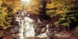 Kaaterskill Falls Stream Through the Forest of the Catskill Mountains, New York State, USA Photographic Print