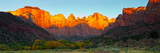 Towers of the Virgin and the West Temple in Zion National Park, Springdale, Utah, USA Photographic Print