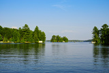 Trees at the Lakeside, Lake Muskoka, Ontario, Canada Photographic Print by Green Light Collection