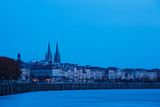 Garonne Riverfront at Dawn, Bordeaux, Gironde, Aquitaine, France Photographic Print by Green Light Collection