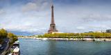 Eiffel Tower from Pont De Bir-Hakeim, Paris, Ile-De-France, France Lámina fotográfica