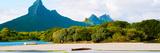 Rempart and Mamelles Peaks, Tamarin Bay, Mauritius Island, Mauritius Photographic Print