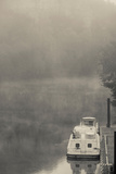 Morning Fog over Lot River, Bouzies, Lot, Midi-Pyrenees, France Photographic Print by Green Light Collection