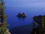 Phantom Ship Island Viewed from Sun Notch Overlook, Crater Lake, Crater Lake National Park Photographic Print by Green Light Collection