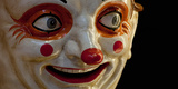Close-Up of a Clown at a Shop, El Ingenio, Barcelona, Catalonia, Spain Photographic Print
