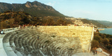 Ancient Antique Theater at Sunset with the Mediterranean Sea in the Background, Kas Photographic Print