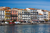 Old Port Waterfront with Buildings in the Background, Sete, Herault, Languedoc-Roussillon, France Photographic Print by Green Light Collection
