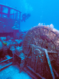 Doc Polson Wreck in the Sea, Grand Cayman, Cayman Islands Photographic Print by Green Light Collection