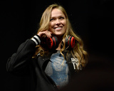 UFC 170 Weigh In: Feb 21, 2014 - Ronda Rousey vs Sara McMann Photographic Print by Jeff Bottari