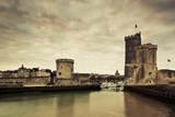 Tour De La Chaine and Tour St-Nicholas Towers, Old Port, La Rochelle, Charente-Maritime Photographic Print by Green Light Collection