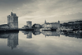 Tour St-Nicholas and Tour De La Chaine Towers at Dawn, Old Port, La Rochelle, Charente-Maritime Photographic Print by Green Light Collection