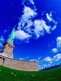 Low Angle View of a Statue, Statue of Liberty, Manhattan, Liberty Island, New York City Photographic Print by Green Light Collection