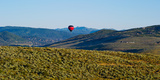 Hot Air Balloon Flying in a Valley, Park City, Utah, USA Photographic Print