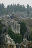 Observation Tower on Limestone Formations, the Stone Forest, Shilin, Kunming, Yunnan Province Photographic Print by Green Light Collection