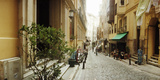 Cobblestone Street in Istanbul, Turkey Photographic Print