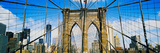 Brooklyn Bridge with Freedom Tower, New York City, New York State, USA Photographic Print