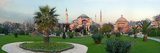 Formal Garden in Front of a Church, Aya Sofya, Istanbul, Turkey Photographic Print