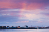 Garonne Riverfront at Dusk, Bordeaux, Gironde, Aquitaine, France Photographic Print by Green Light Collection