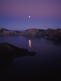Moon Reflection in the Crater Lake, Crater Lake National Park, Oregon, USA Photographic Print by Green Light Collection
