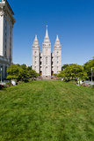 Facade of a Church, Mormon Temple, Temple Square, Salt Lake City, Utah, USA Photographic Print by Green Light Collection