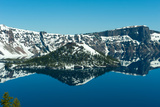 Lake in Winter, Crater Lake, Crater Lake National Park, Oregon, USA Photographic Print by Green Light Collection
