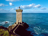 Lighthouse at the Coast, Kermorvan Lighthouse, Finistere, Brittany, France Photographic Print by Green Light Collection