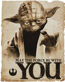 Star Wars - Yoda Force Affiches