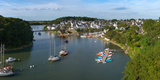 Boats in the Sea, Le Bono, Gulf of Morbihan, Morbihan, Brittany, France Photographic Print