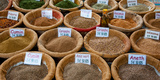 Spices for Sale in a Weekly Market, Arles, Bouches-Du-Rhone, Provence-Alpes-Cote D'Azur, France Photographic Print by Green Light Collection